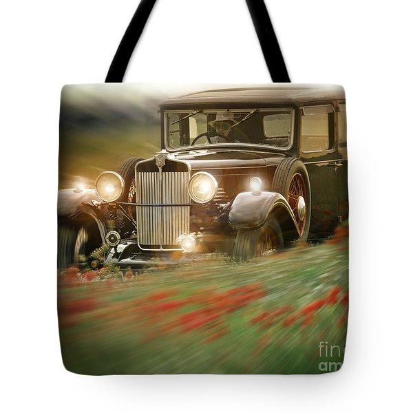Behind the Wheel Tote Bag by Edmund Nagele