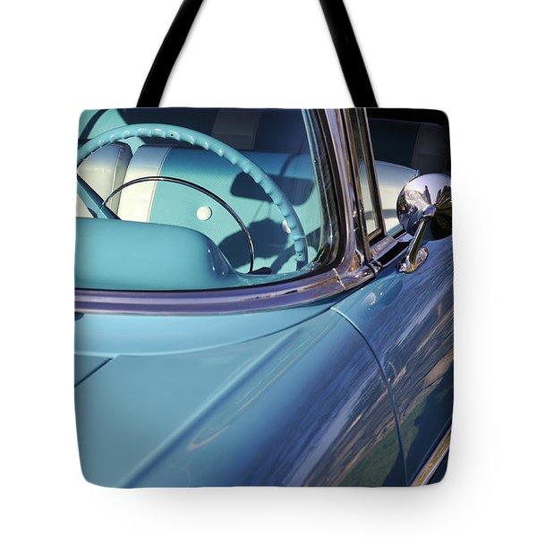 Behind The Wheel Tote Bag by Luke Moore
