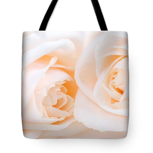 Beige roses Tote Bag by Elena Elisseeva