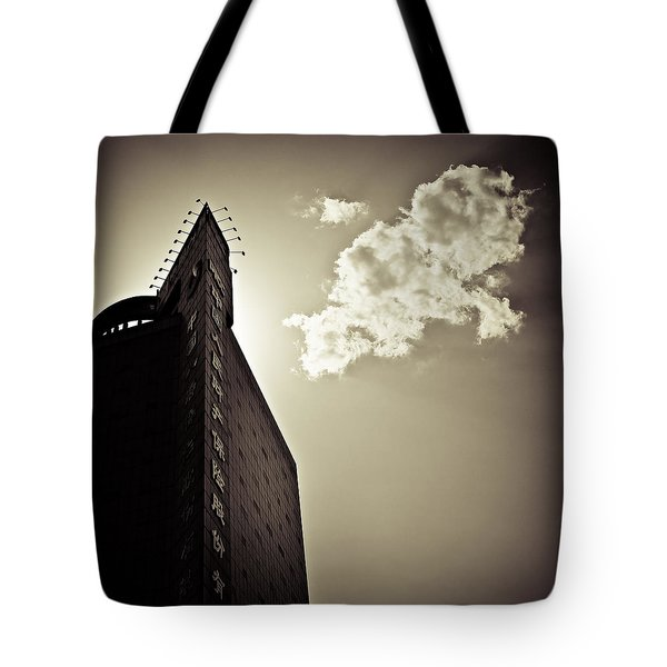 Beijing Cloud Tote Bag by Dave Bowman