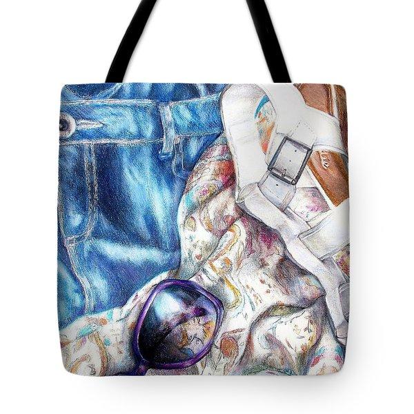 Being A Girl Tote Bag by Shana Rowe Jackson