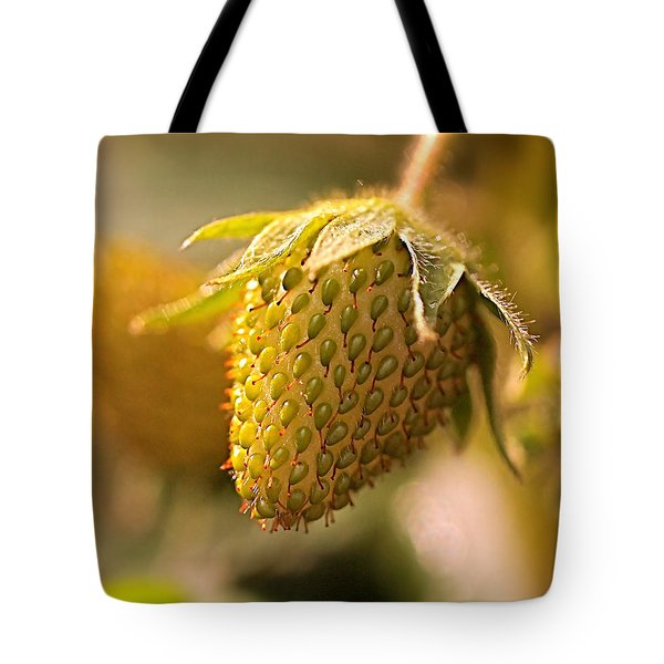 Being Young And Green Tote Bag by Rona Black