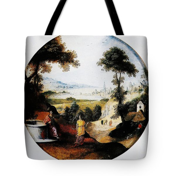 Belgium Belgian Abel Grimmer The Samaritan Woman Art Tote Bag by MotionAge Designs