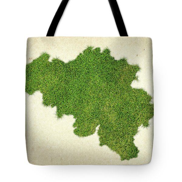 Belgium Grass Map Tote Bag by Aged Pixel