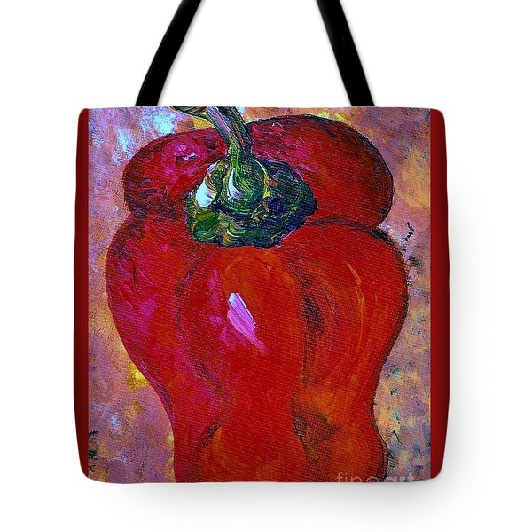 Bell Pepper - Take Center Stage Tote Bag by Eloise Schneider