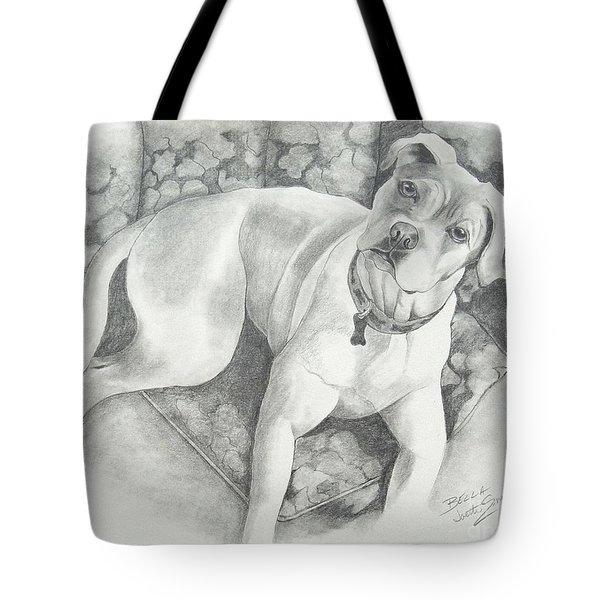 Bella My Pup Tote Bag by Joette Snyder