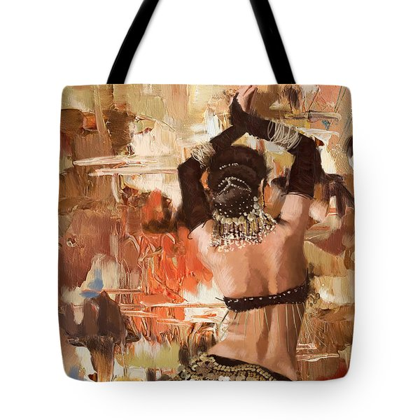 Belly Dancer Back Tote Bag by Corporate Art Task Force