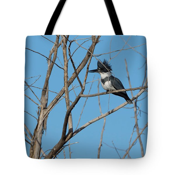 Belted Kingfisher 4 Tote Bag by Ernie Echols