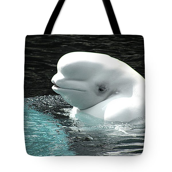 Beluga Whale Tote Bag by Brian Chase