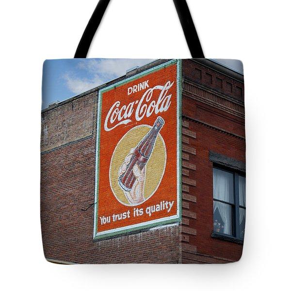 Bend Oregon Coke Sign Tote Bag by Gary Grayson