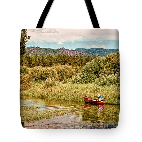 Bend/sunriver Thousand Trails Tote Bag by  Bob and Nadine Johnston