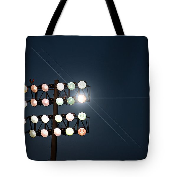 Beneath Friday Night Lights Tote Bag by Trish Mistric