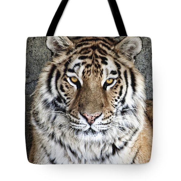 Bengal Tiger Vertical Portrait Tote Bag by Tom Mc Nemar