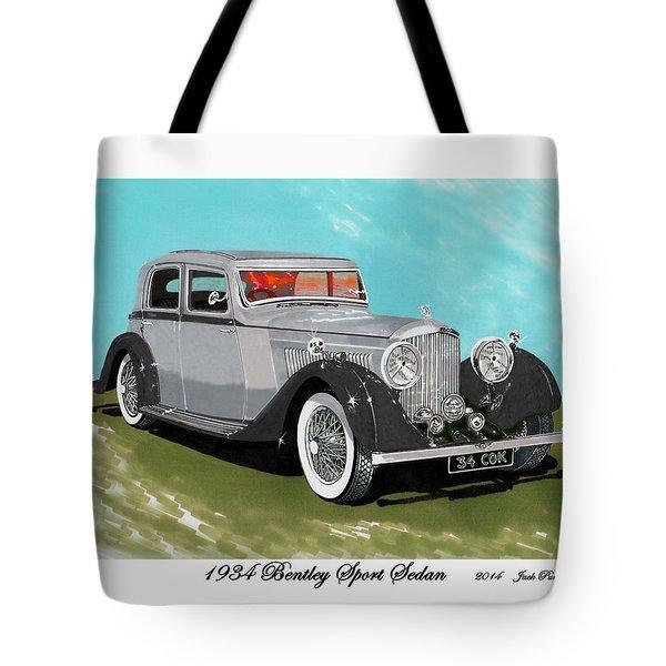 Bentley Sport Sedan 1934 Tote Bag by Jack Pumphrey