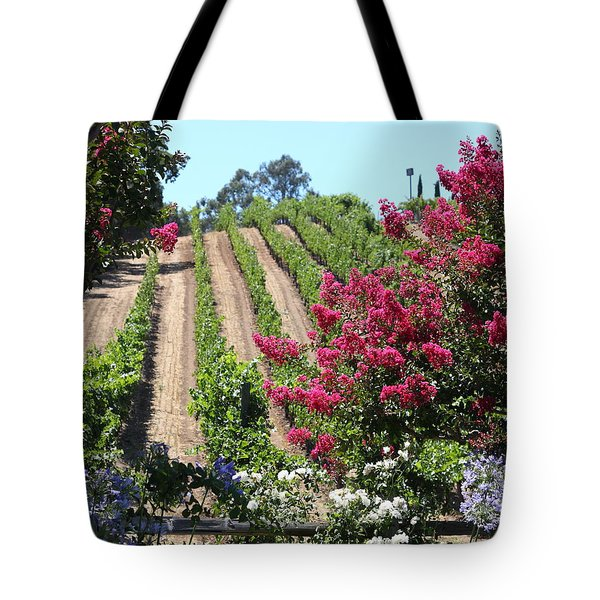Benziger Winery In The Sonoma California Wine Country 5d24495 Vertical Tote Bag by Wingsdomain Art and Photography