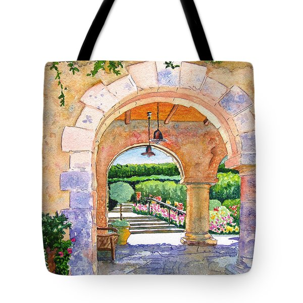 Beringer Winery Archway Tote Bag by Gail Chandler
