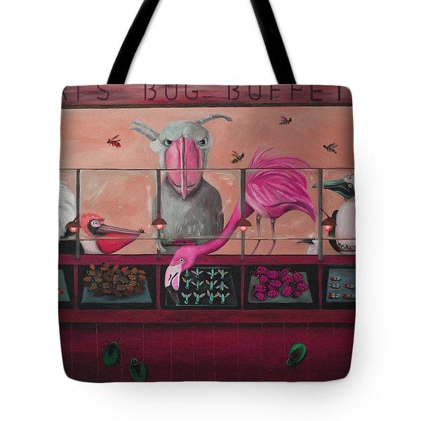 Bert's Bug Buffet Edit 2 Tote Bag by Leah Saulnier The Painting Maniac