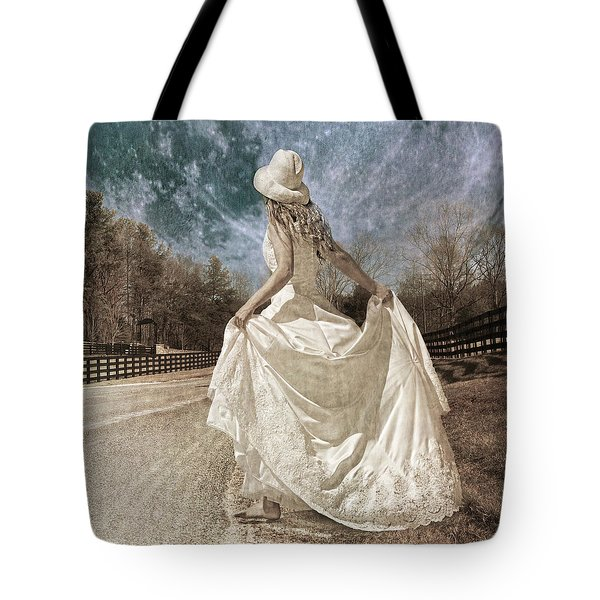 Beside Myself The Moon Tote Bag by Betsy Knapp
