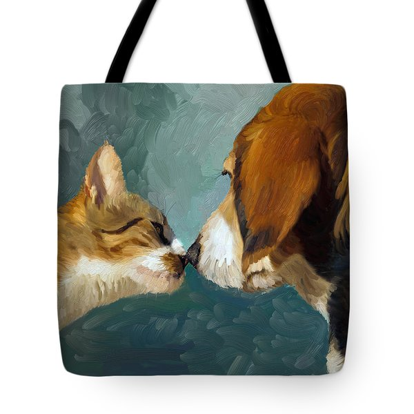 Best Friends Tote Bag by Angela A Stanton