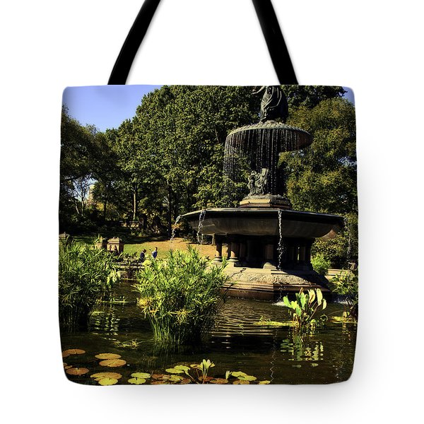 Bethesda Fountain - Central Park 2 Tote Bag by Madeline Ellis