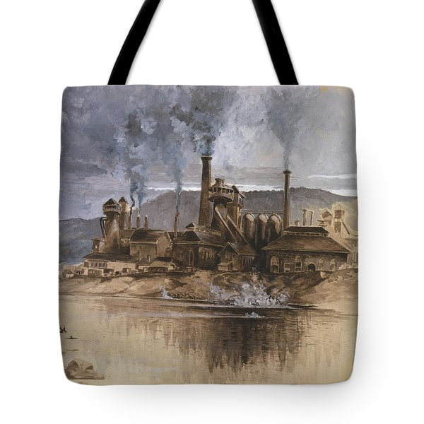 Bethlehem Steel Corporation Circa 1881 Tote Bag by Aged Pixel