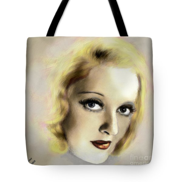 Bette Davis Eyes Tote Bag by Arne Hansen