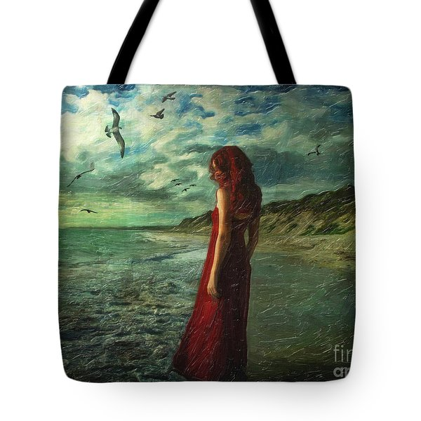 Between Sea And Shore Tote Bag by Lianne Schneider