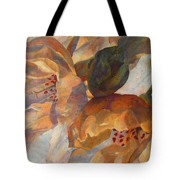 Bev's Blossoms Tote Bag by Deborah Younglao
