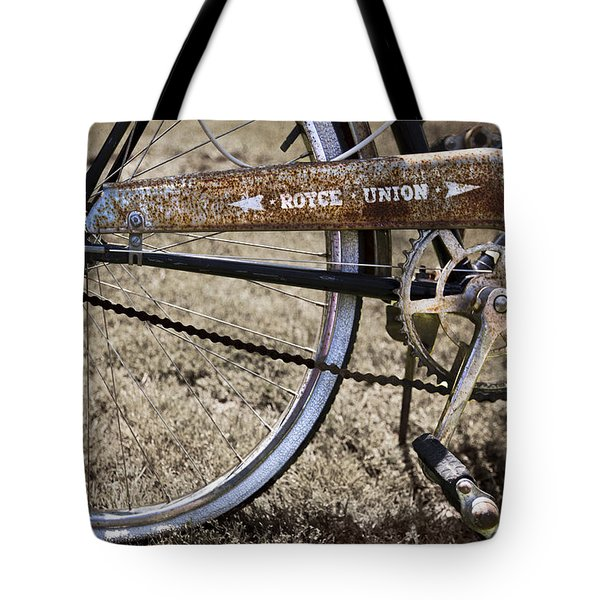 Bicycle Gears Tote Bag by Debra and Dave Vanderlaan