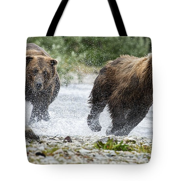 Big Bully On Funnel Creek Katmai National Park Tote Bag by Dan Friend