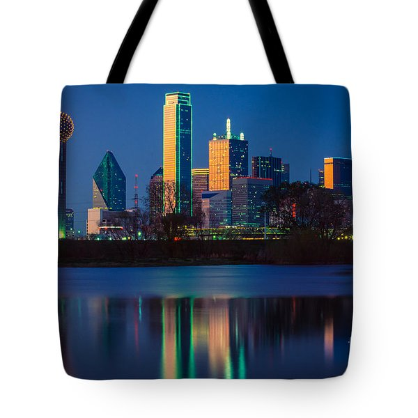 Big D Reflection Tote Bag by Inge Johnsson