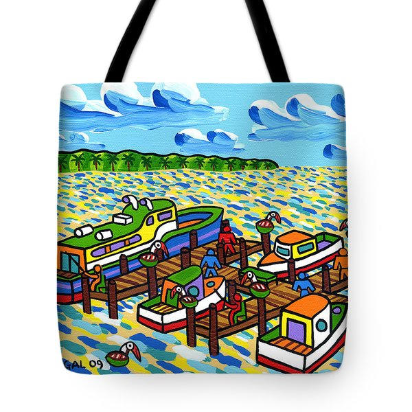 Big Dock - Cedar Key Tote Bag by Mike Segal