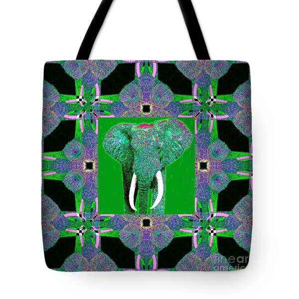 Big Elephant Abstract Window 20130201p128 Tote Bag by Wingsdomain Art and Photography