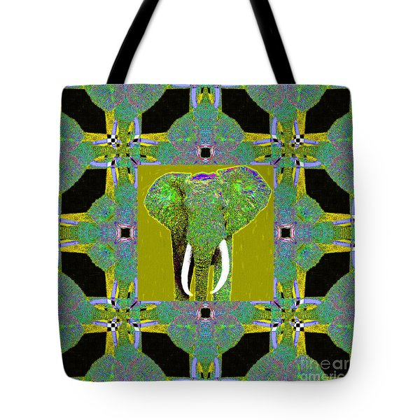 Big Elephant Abstract Window 20130201p60 Tote Bag by Wingsdomain Art and Photography
