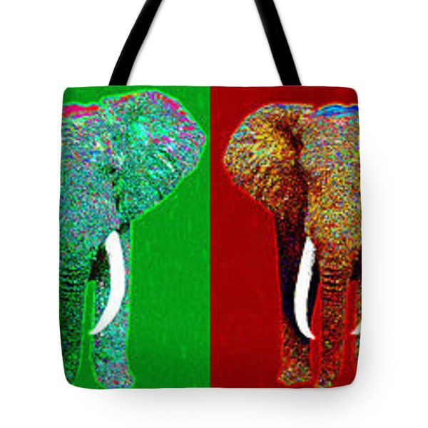 Big Elephant Six 20130201 Tote Bag by Wingsdomain Art and Photography