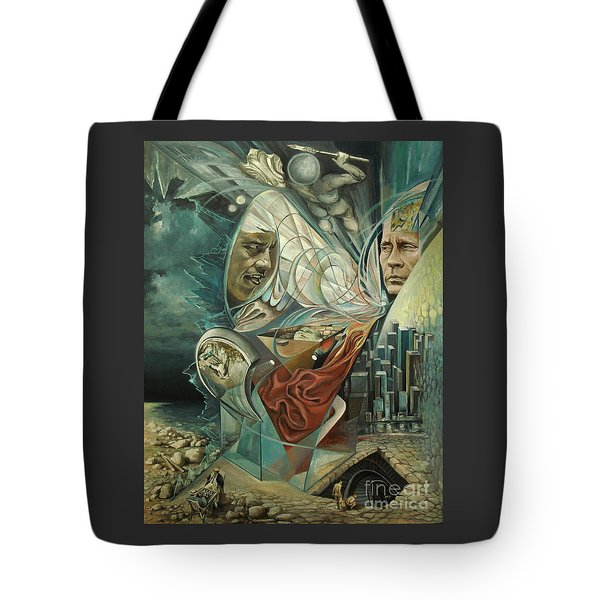 Big Game Or Silence Is Gold Tote Bag by Mikhail Savchenko