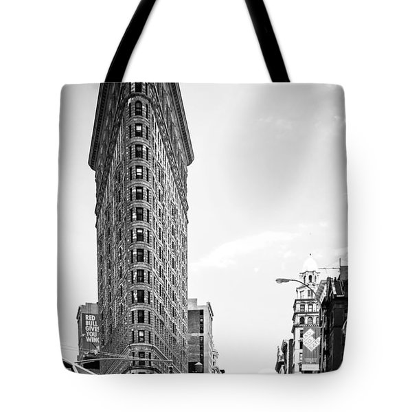 big in the big apple - bw Tote Bag by Hannes Cmarits