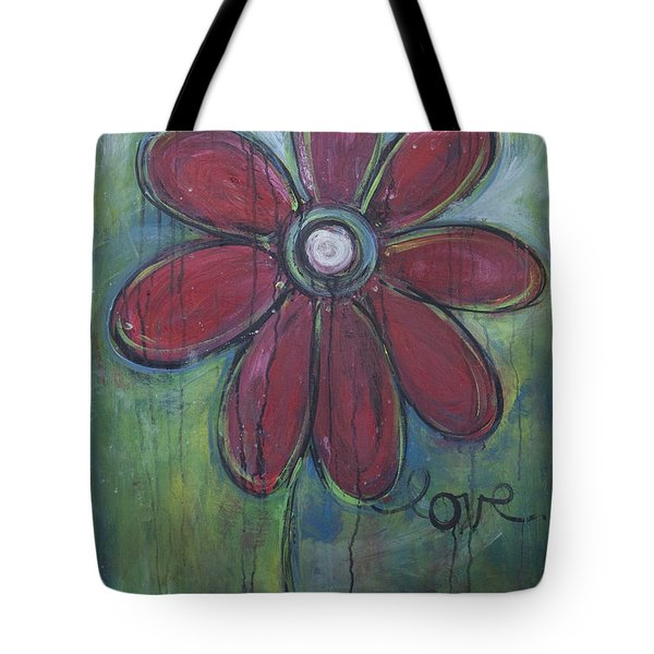 Big Love Daisey Tote Bag by Laurie Maves ART