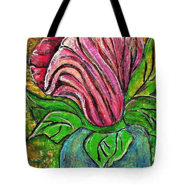 Big Pink Flower Tote Bag by Sarah Loft