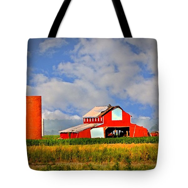 Big Red Barn Tote Bag by Marty Koch