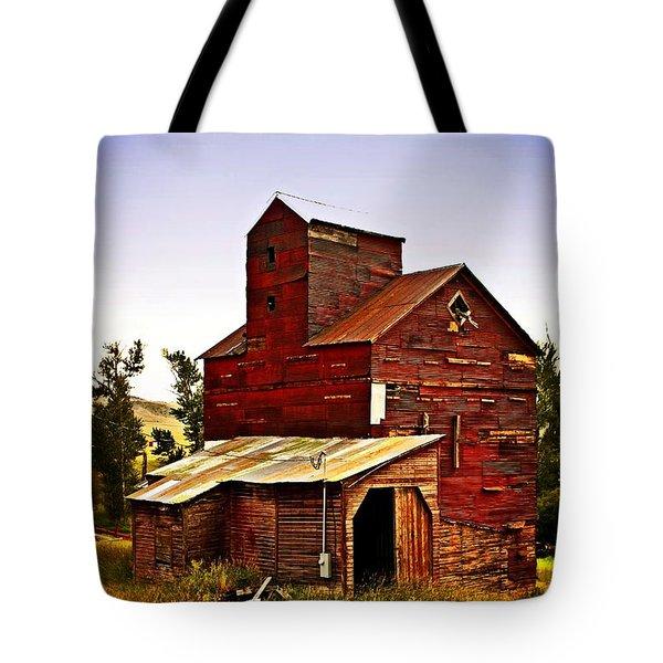 Big Red Grain Elevator Tote Bag by Marty Koch