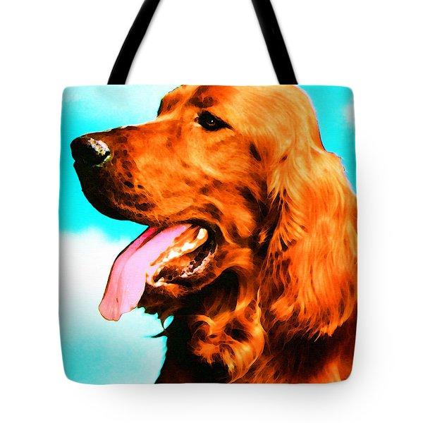 Big Red - Irish Setter Dog Art By Sharon Cummings Tote Bag by Sharon Cummings