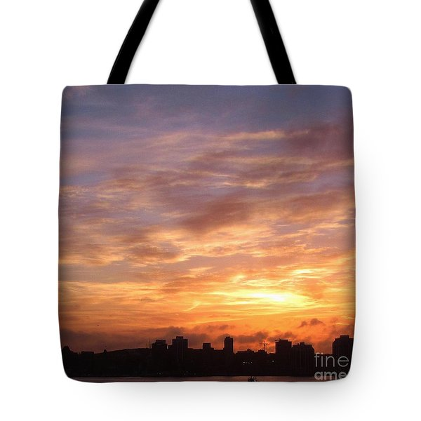 Big Sky Over Halifax Harbour Tote Bag by John Malone