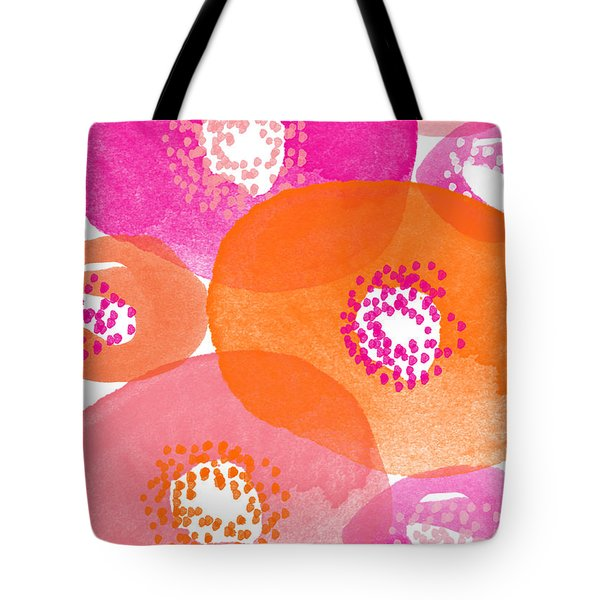 Big Spring Flowers- Contemporary Watercolor Painting Tote Bag by Linda Woods