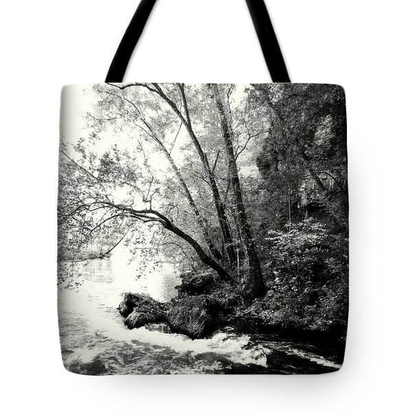 Big Spring In B And W Tote Bag by Marty Koch
