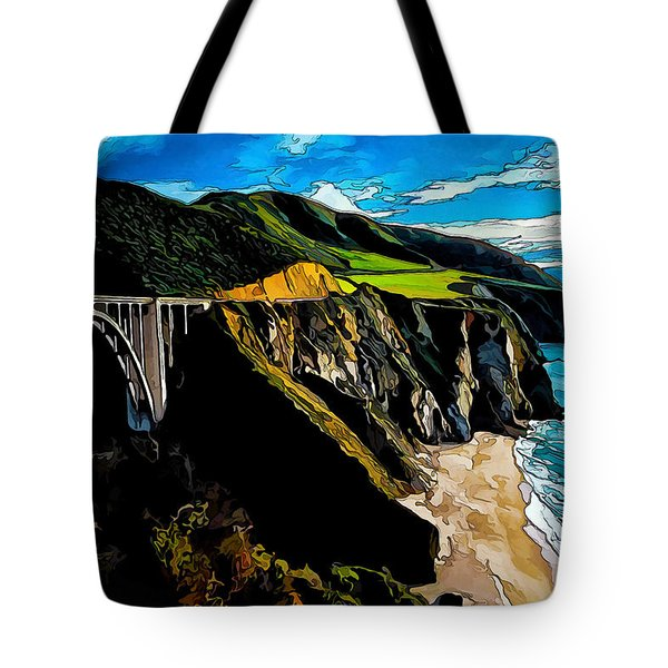 Big Sur Bridge Tote Bag by Bill Caldwell -        ABeautifulSky Photography