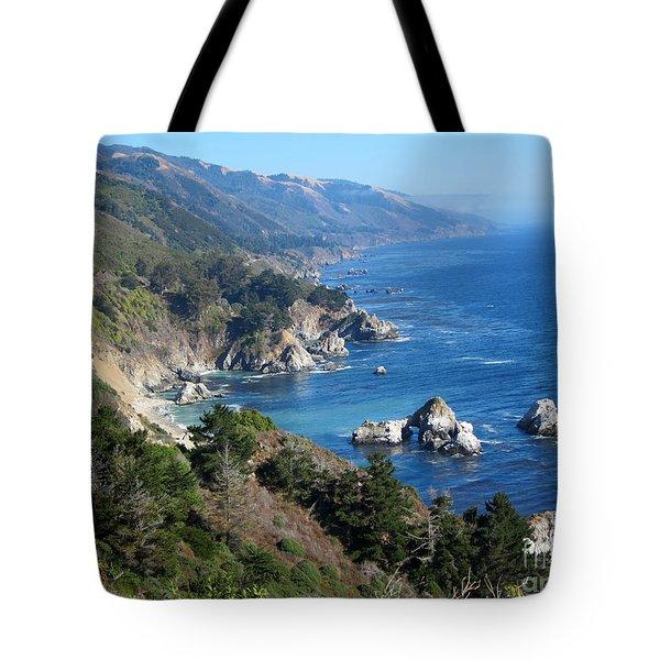 Big Sur Coast CA Tote Bag by Debra Thompson