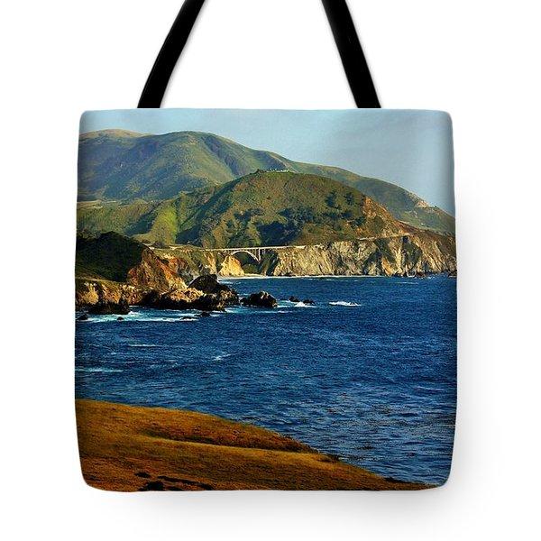 Big Sur Coastline Tote Bag by Benjamin Yeager