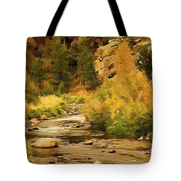 Big Thompson River 8 Tote Bag by Jon Burch Photography