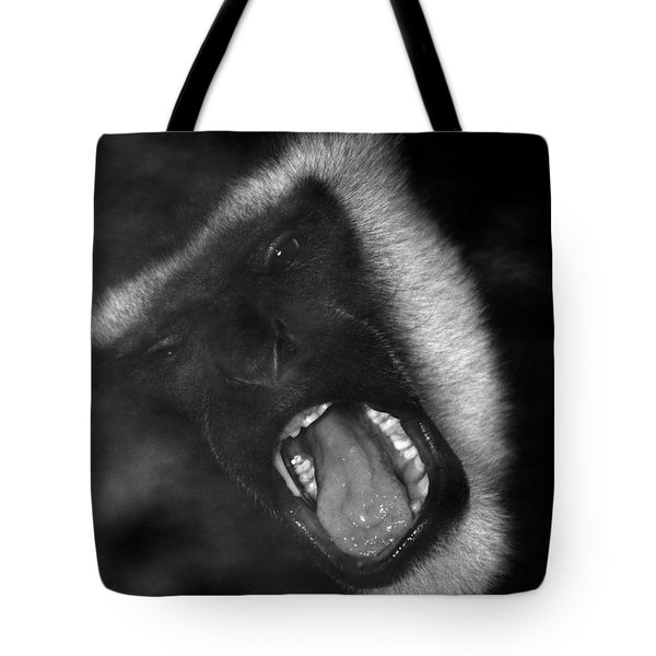Big Yawn From This Monkey Tote Bag by Thomas Woolworth